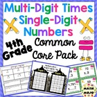 Single Digit Multiplication Common Core Standards Pack CCS
