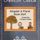 Singular & Plural Noun Sort {Autumn}