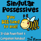 Singular Possessives Powerpoint- Includes a worksheet companion!