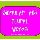 Singular and Plural- Interactive SMARTnotebook Lesson