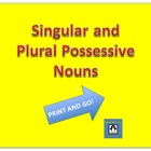 Singular and Plural Possessives - Print and go!