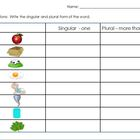 Singular to Plural Activity Sheet