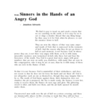 &quot;Sinners in the Hands of an Angry God&quot; text and questions