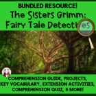 Sisters Grimm Reading Novel Super Activities Common Core S