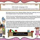 Sixth Grade Common Core Language Arts Checklists and Drop