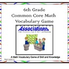 Sixth Grade Common Core Math Vocabulary Game