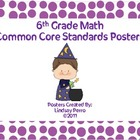 Sixth Grade Math Common Core Standard Posters