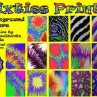 Sixties Psychedelic Fun Background Bundle-14 Commercial Us