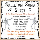 Skeleton Song Sheet