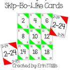 Skip-Bo-Like Counting By 2's Game Cards
