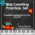 Skip Counting Multiplication Center with 3's, 4's, 6's & 7's
