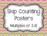 Skip Counting Posters: Multiples 2-12 {FREE!}