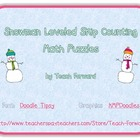 Skip Counting Puzzles Leveled Math Center Snowmen