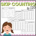 Skip Counting and Number Patterns using hundreds charts- P