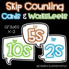 Skip Counting (by 2, 5 & 10) Cards & Worksheet Bundle  - M