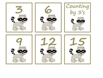 Skip Counting with Furry Forest Friends - 2s, 3s, 5s,