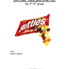 Skittles Graph and Line Plot