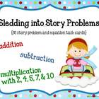 Sledding Into Story Problems Math Game Cards