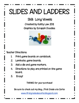 Slides and Ladders--Long Vowel Games