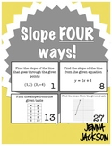 Slope Four Ways! Finding Slope Task Card Activity