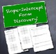 Slope-Intercept Form Introductory Discovery Activity