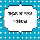 Slope Types Foldable