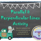 Slope of Parallel & Perpendicular Lines Fun Map Activity;