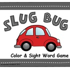 Slug Bug Color and Sight Word Game