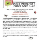 Smack a Bug (primary version) Sight Word Game REVISED