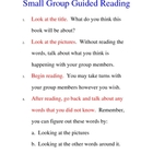 Small Group Reading Guide for Student-Lead Guided Reading Groups