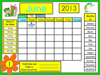 Smart Board Calendar for Pre-k -1st grade