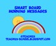 Smart Board:  Morning Messages #1