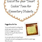 &quot;Smart Cookie&quot; End of the Year Poem for K-5 Students :) 