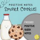 Smart Cookie Positive Notes Freebie
