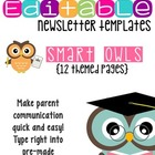Newsletter Templates (12 included): Smart Owl Themed
