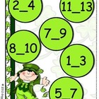 Smart Shamrocks Missing Number File Folder Game
