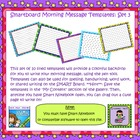 SmartBoard Morning Message Templates Set 3