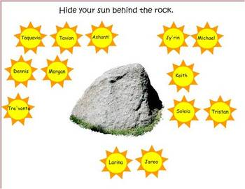 SmartBoard attendance file-The Lizard and the Sun