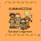 Smartboard Activity Summarizing Made Easy Common Core