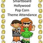 Smartboard Attendance Hollywood Popcorn Movie Theme