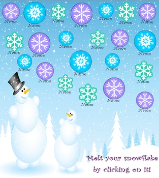 Smartboard Attendance -Winter Theme
