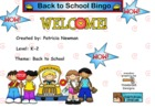 Smartboard Back to School Bingo 