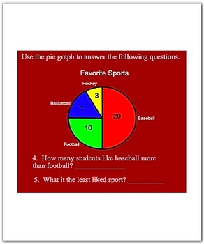 Smartboard Bar Graph Pie Graph Line Graph PictoGraph Lesson Pack