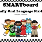 Smartboard Daily Oral Language Fix-Its and Printable Worksheet
