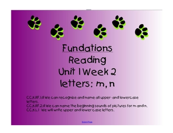 Smartboard Fundations-  Letters m and n