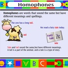 Smartboard Lesson on Homophones Gr.2-5