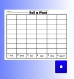 Smartboard Roll a Sight Word