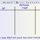 Smartboard Word Sorts - dipthongs ou &amp; ow