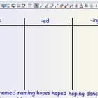 Smartboard Word Sorts -s, -es, -ed, &amp; -ing