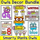 Smarty Pants Owls Classroom Theme Pack - Jobs Labels, Bind